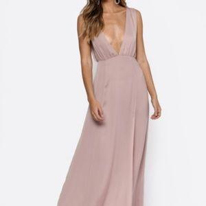 Tobi Dress - Champagne/Tan, Maxi, Size Small